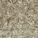 Taupe Rosette Satin Fabric