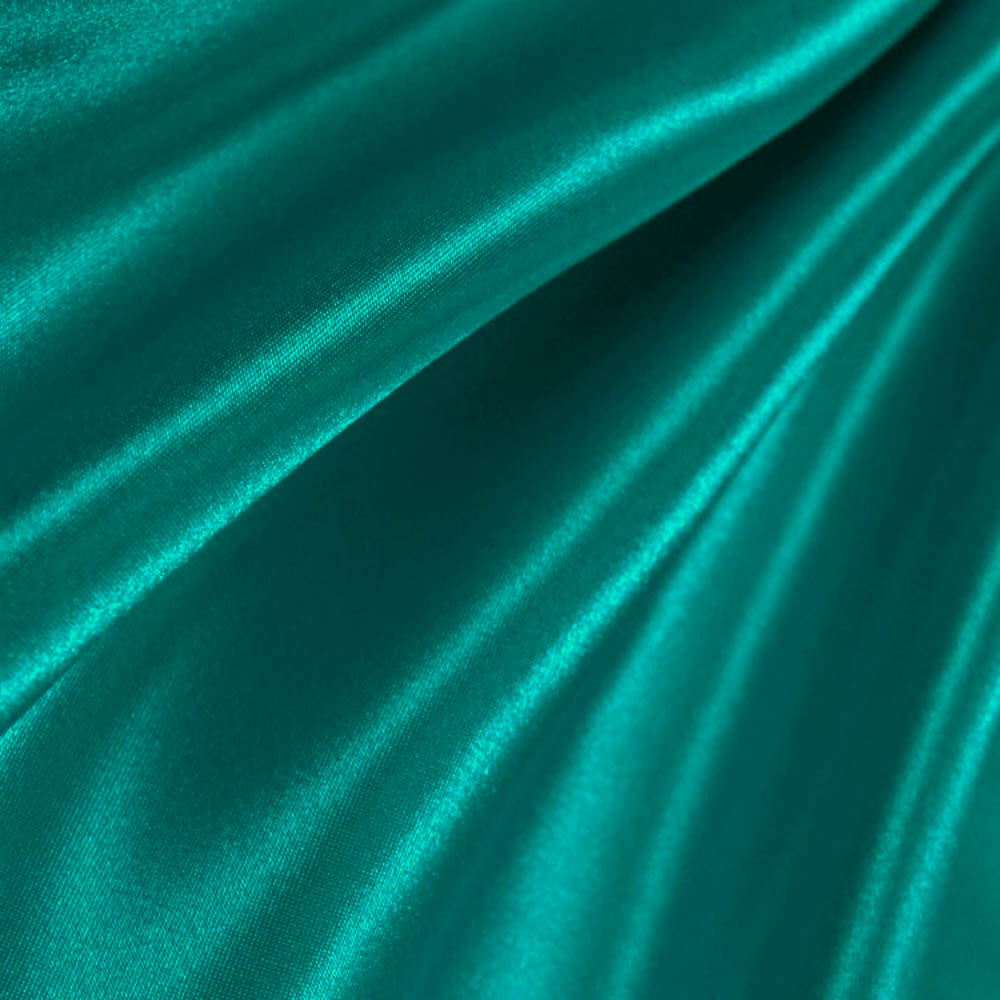 Teal Charmeuse Satin Fabric