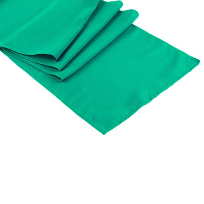 Teal Green Polyester Table Runner