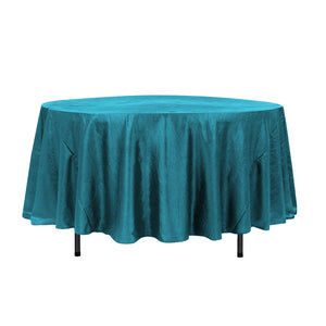 "108"" Teal Crinkle Crushed Taffeta Round Tablecloth"