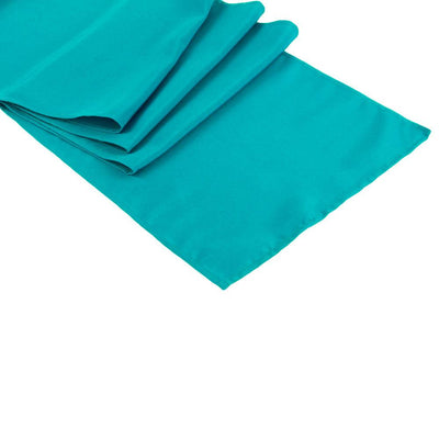 Turquoise Polyester Table Runner