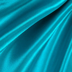 Turquoise Poly Satin Fabric / 50 Yards Roll