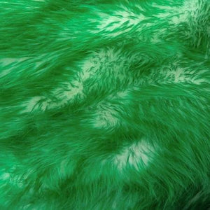 Emerald Faux Fur Candy Shaggy Fabric Long Pile