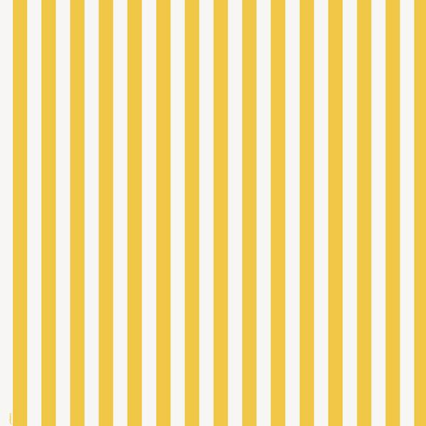 "1"" One Inch Yellow and White Stripes Poly Cotton Fabric"