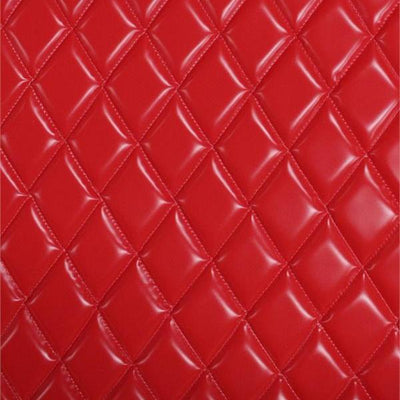 Red Matte Dull Quilted Vinyl Fabrics
