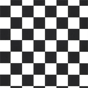 "1"" One Inch Black Racing Checkered Poly Cotton Fabric"