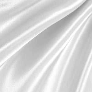 White Poly Satin Fabric / 50 Yards Roll