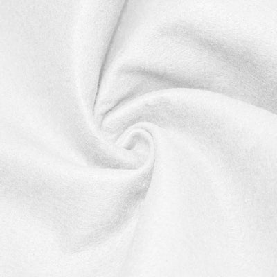 White Solid Acrylic Felt Fabric