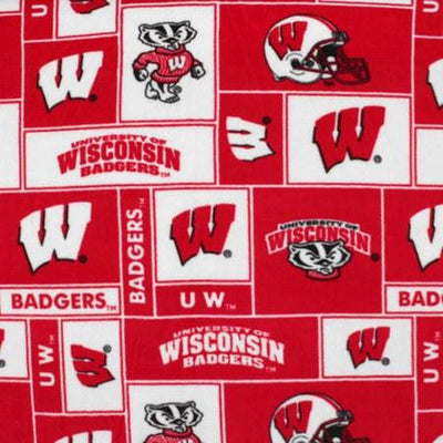 Wisconsin Badgers Allover NCAA Fleece Fabric