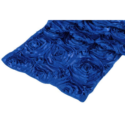( 3 Pack ) Royal Blue Rosette Satin Table Runner
