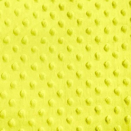 Yellow Minky Dimple Dot Fabric