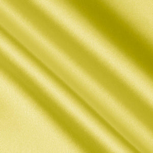 Yellow Crepe Back Satin Fabric