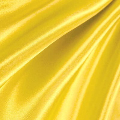 Yellow Poly Satin Fabric / 50 Yards Roll
