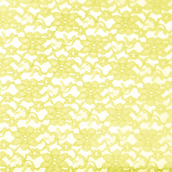 Yellow Raschel Lace Fabric