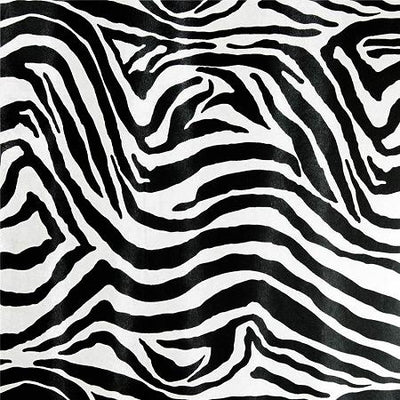 Zebra White Poly Cotton Fabric