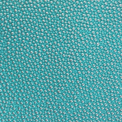 Tiffany Green Silver Grain Reptile Embossed Vinyl Fabric