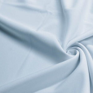 Baby Blue Solid Stretch Scuba Double Knit Fabric