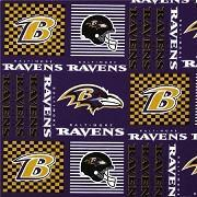 Baltimore Ravens NFL Patchwork 100% Cotton Print