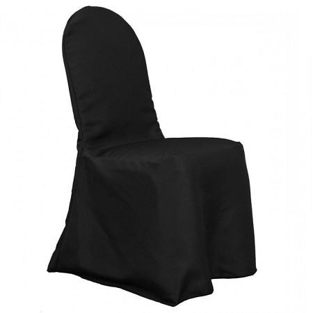 Black Polyester Hotel/Banquet Chair Cover