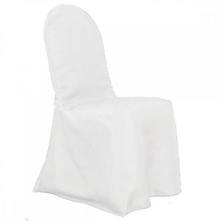 White Polyester Hotel/Banquet Chair Cover