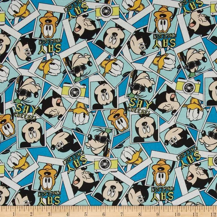 Mickey Mouse Disney 100% Cotton Fabric