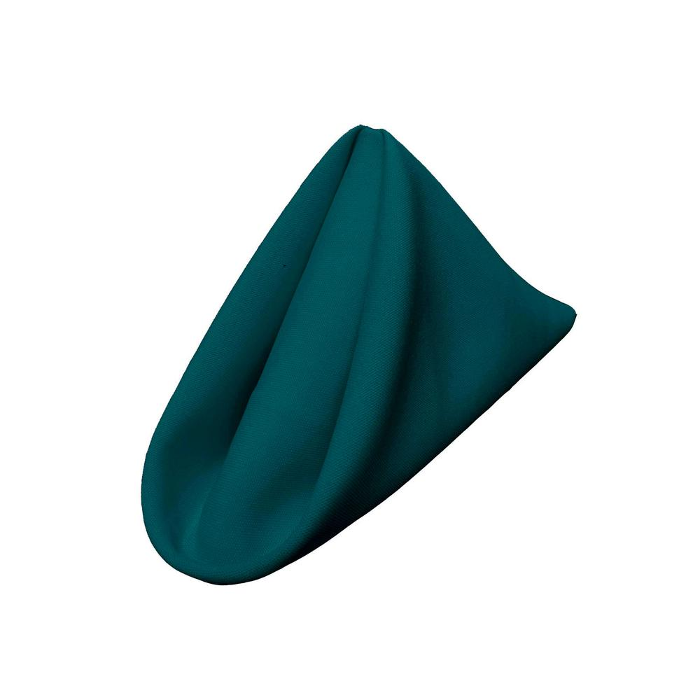 "(12 / Pack) Dark Teal 18"" Polyester Napkin"