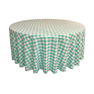 Mint Polyester Checkered Round 108