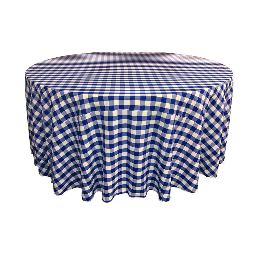 Royal Polyester Checkered Round 108""