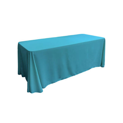 Dark Turquoise 100% Polyester Rectangular Tablecloth 90
