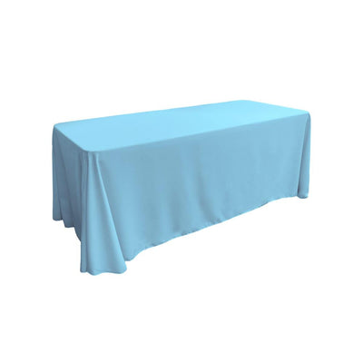Light Turquoise 100% Polyester Rectangular Tablecloth 90