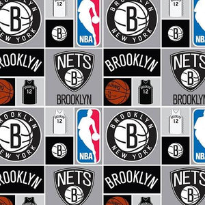 NBA Brooklyn Nets 100% Cotton Print Fabric