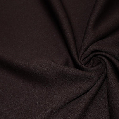 Brown Solid Stretch Scuba Double Knit Fabric / 50 Yards Roll