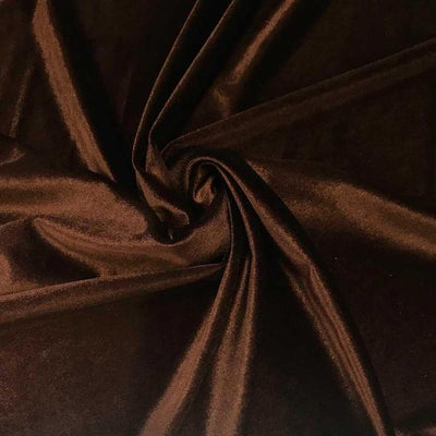 Brown Stretch Velvet Fabric / 60 Yards Roll