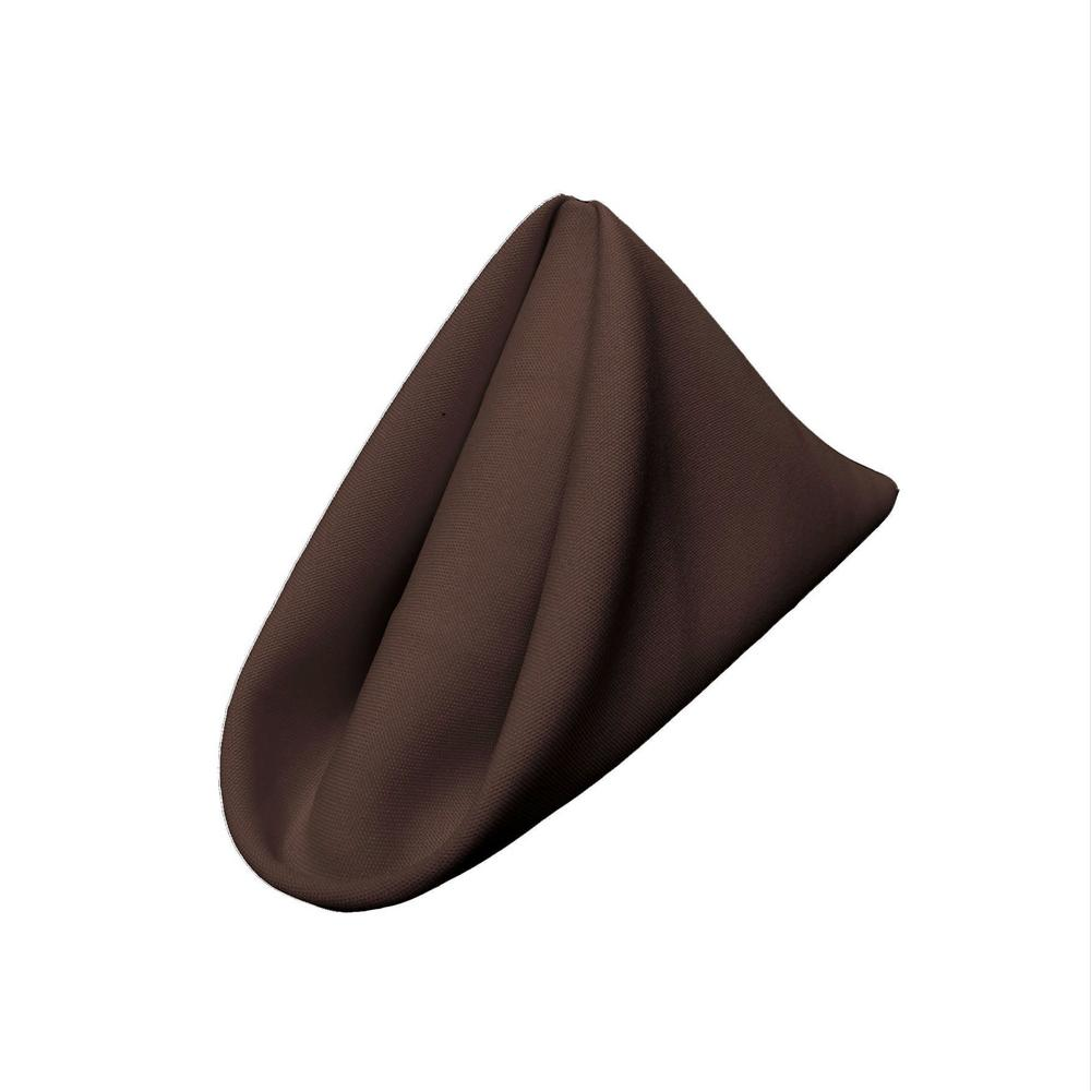 "(12 / Pack) Brown 18"" Polyester Napkin"