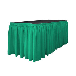 14 Ft. x 29 in. Jade Accordion Pleat Polyester Table Skirt