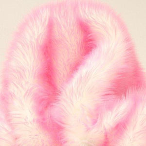 Bubble Gum Faux Fur Candy Shaggy Fabric Long Pile