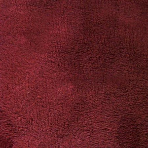 Burgundy Solid Minky Fabric