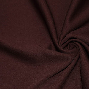 Burgundy Solid Stretch Scuba Double Knit Fabric