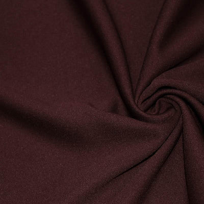 Burgundy Solid Stretch Scuba Double Knit Fabric / 50 Yards Roll