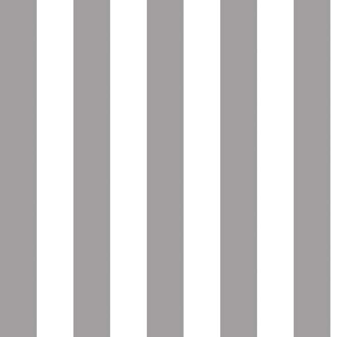 "1"" One Inch Gray and White Stripes Poly Cotton Fabric"