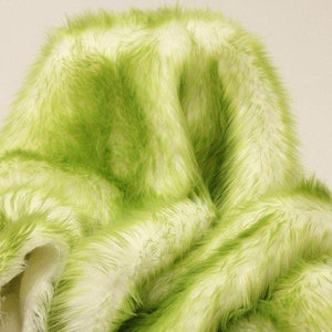 Olive Faux Fur Candy Shaggy Fabric Long Pile