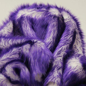 Puple Faux Fur Candy Shaggy Fabric Long Pile