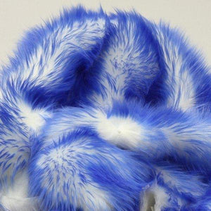 Royal Blue Faux Fur Candy Shaggy Fabric Long Pile