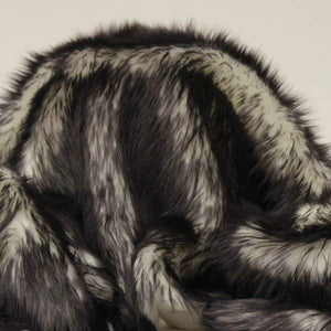 Black Faux Fur Candy Shaggy Fabric Long Pile