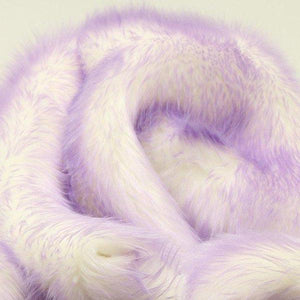 Lavender Faux Fur Candy Shaggy Fabric Long Pile