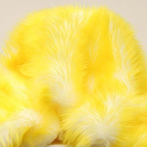 Yellow Faux Fur Candy Shaggy Fabric Long Pile