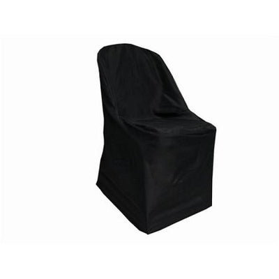 Black Polyester Folding Chair Cover
