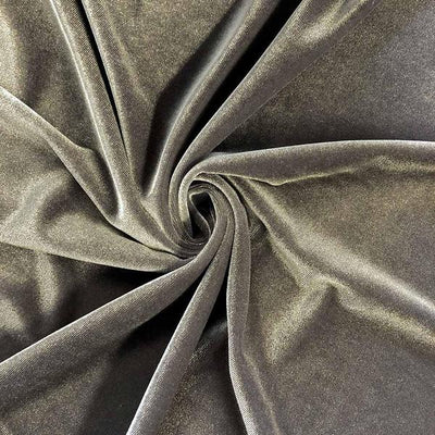 Charcoal Stretch Velvet Fabric / 60 Yards Roll