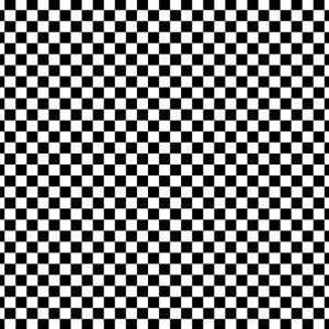 "1/2"" Half Inch Black Racing Checkered Poly Cotton Fabric"