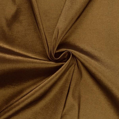 Brown Stretch Taffeta Fabric